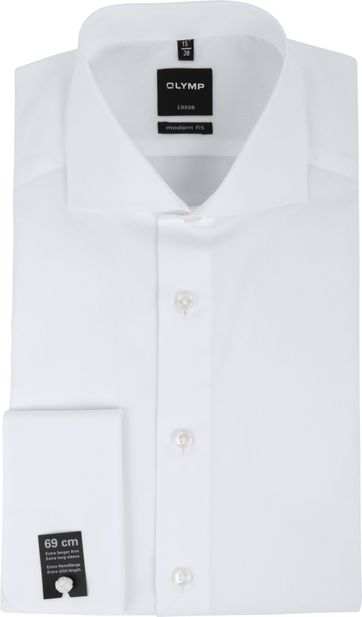 Olymp Luxor SL7 Double Cuff Shirt White