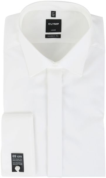 OLYMP Luxor Smokinghemd Extra Langer Arm Off-White Hochzeit
