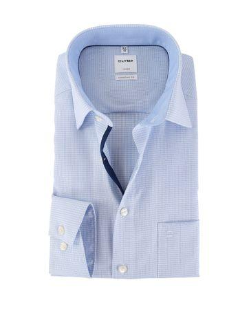 OLYMP Luxor Strijkvrij Comfort Fit Overhemd Blauw
