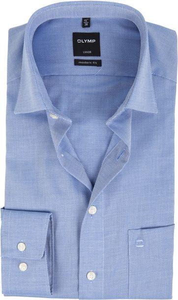 OLYMP Luxor Strijkvrij Hemd Modern Fit Blauw