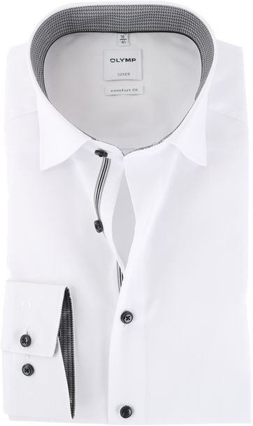 OLYMP Luxor Strijkvrij Luxor Overhemd Wit
