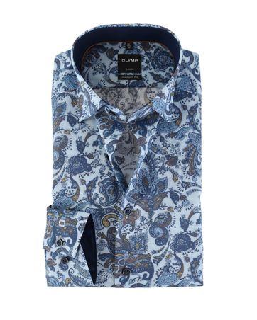 OLYMP Luxor Strijkvrij Overhemd Modern Fit Paisley