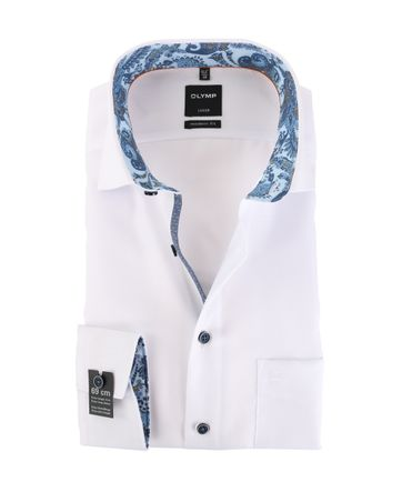 OLYMP Luxor Strijkvrij Overhemd Modern Fit Wit Sleeve7