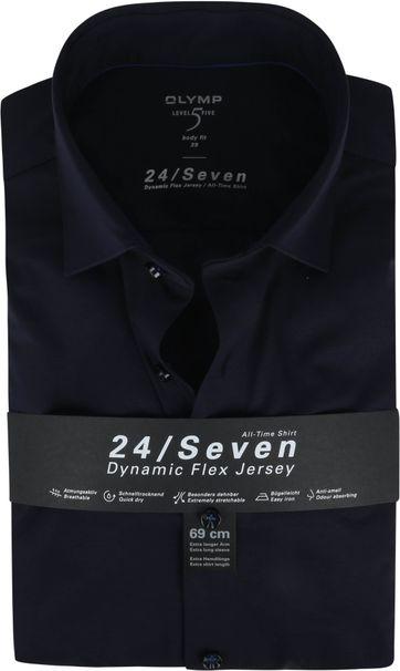 OLYMP Lvl 5 Extra LS Hemd 24/Seven Donkerblauw