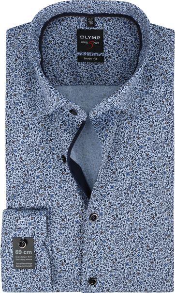 OLYMP Lvl 5 Extra LS Hemd Bloemen Blauw