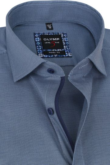 OLYMP Lvl 5 Extra LS Overhemd 2108 Blauw