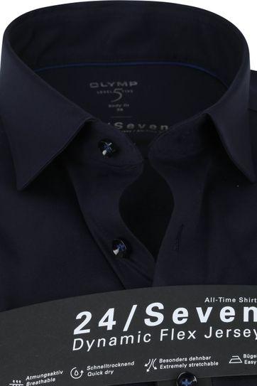 OLYMP Lvl 5 Extra LS Overhemd 24/Seven Donkerblauw