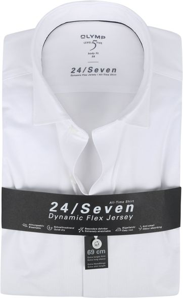 OLYMP Lvl 5 Extra LS Overhemd 24/Seven Wit