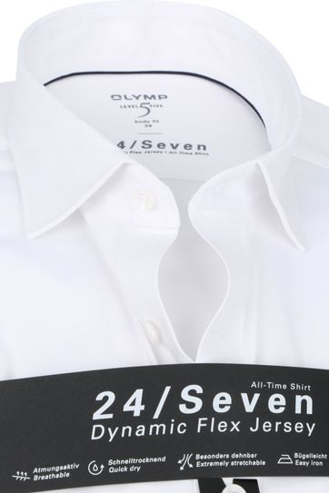 OLYMP Lvl 5 Extra LS Shirt 24/Seven White