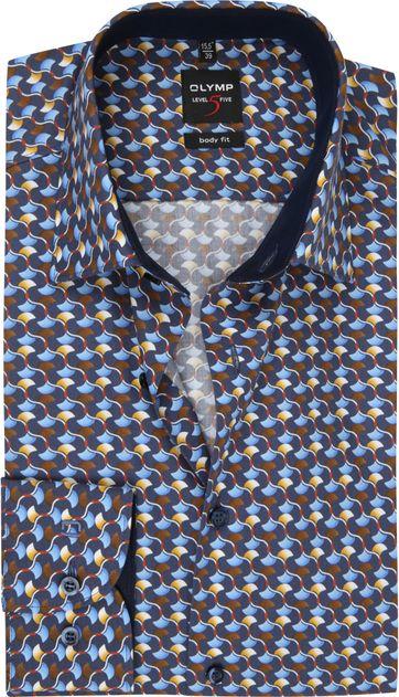 OLYMP Lvl 5 Hemd Design Blau