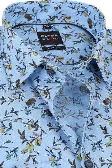 OLYMP Lvl 5 Hemd Fruit Blauw