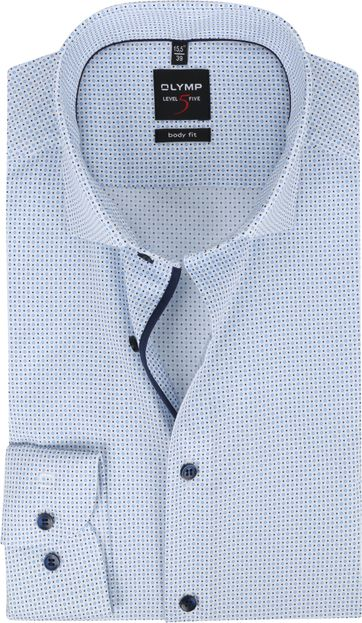 OLYMP Lvl 5 Overhemd 2104 Blauw