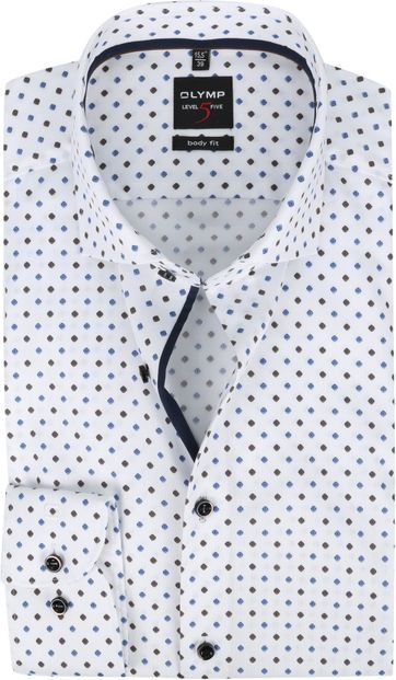 OLYMP Lvl 5 Overhemd 2166 Bruin