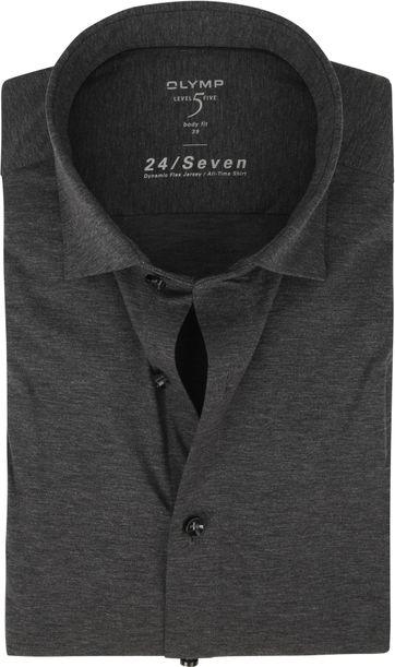 OLYMP Lvl 5 Overhemd 24/Seven Antraciet