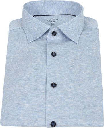 OLYMP Lvl 5 Overhemd 24/Seven Blauw