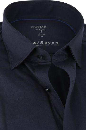 OLYMP Lvl 5 Overhemd 24/Seven Marine Blauw