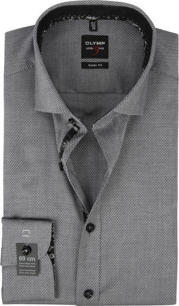 OLYMP Lvl 5 Overhemd Dessin Antraciet SL7
