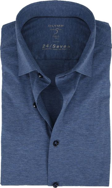OLYMP Lvl 5 Shirt 24/Seven Smoke Blue