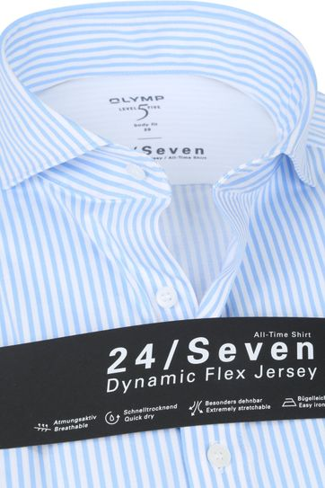 OLYMP Lvl 5 Shirt 24/Seven Stripes Light Blue