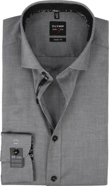 OLYMP Lvl 5 Shirt Design Dark Grey SL7