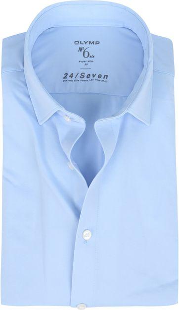 OLYMP No'6 Hemd 24/Seven Blauw