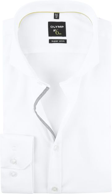 OLYMP No'6 Hemd Skinny Fit Weiß