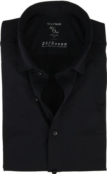 OLYMP No\'6 Overhemd 24/Seven Navy