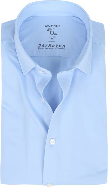 OLYMP  No'6 Shirt 24/Seven Blue