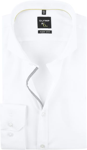 OLYMP No'6 Shirt Skinny Fit White