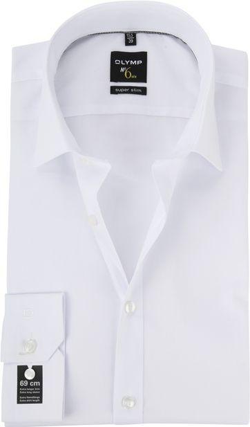 OLYMP No'6 six Hemd Skinny Fit Weiß SL7