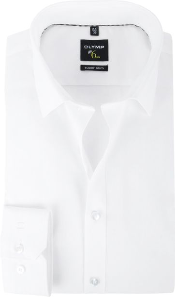 OLYMP No'6 six Hemd Super Slim Fit Weiß