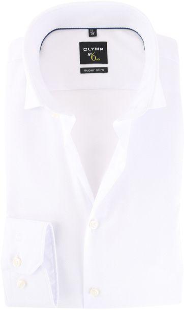 OLYMP No'6 six Overhemd Skinny Fit Wit