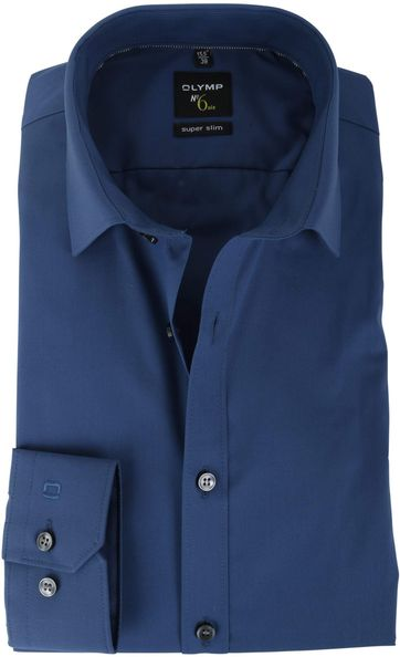 OLYMP No'6 six Overhemd Super Slim Fit Donkerblauw