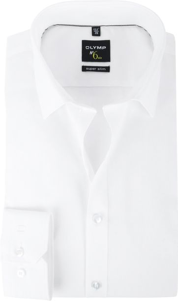 OLYMP No'6 six Skinny Fit Overhemd Wit