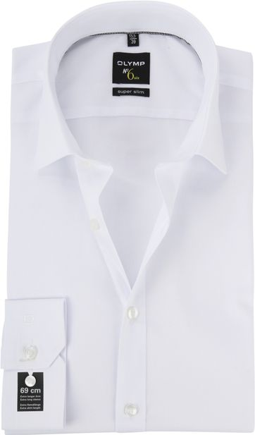 OLYMP No'6 six Skinny Fit Overhemd Wit SL7