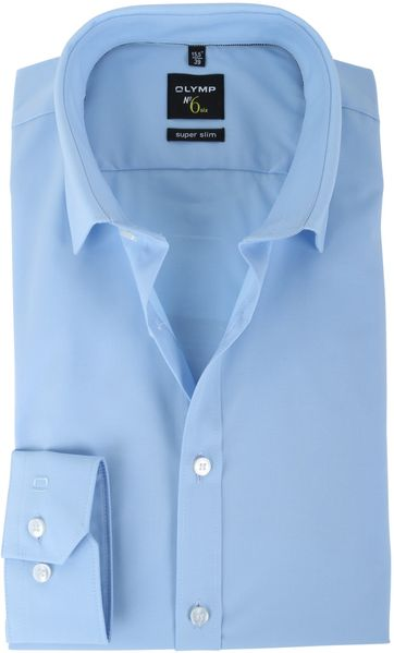 OLYMP No'6 six Super Slim Fit Overhemd Blauw