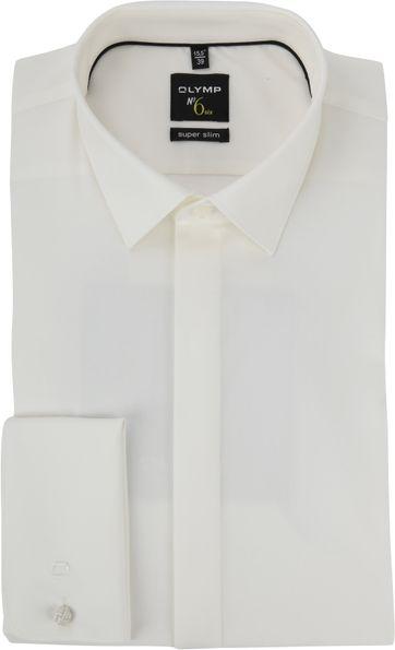 OLYMP No'6 Trouw Overhemd SF Ecru