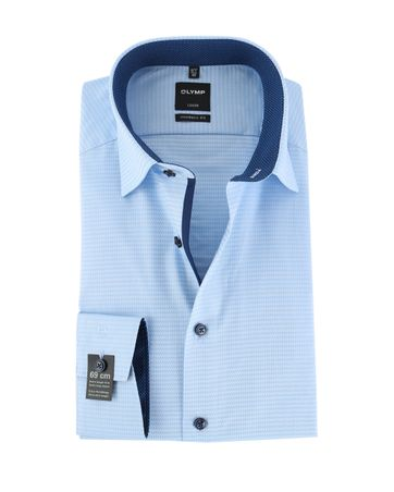Olymp Non Iron Overhemd Modern Fit Blauw SL7