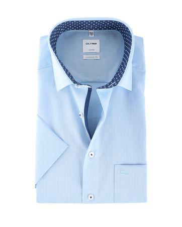 Olymp Overhemd Comfort Fit Blauw