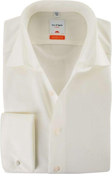 Olymp Overhemd Dubbelmanchet Ecru