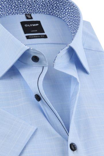 OLYMP Overhemd Korte Mouwen Blauw