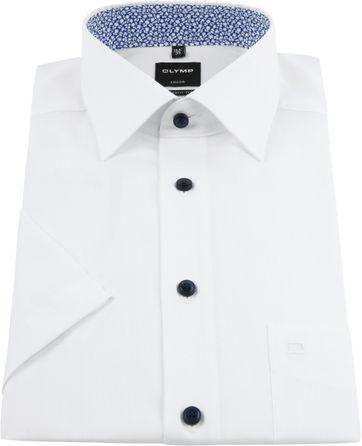 OLYMP Overhemd Korte Mouwen Wit