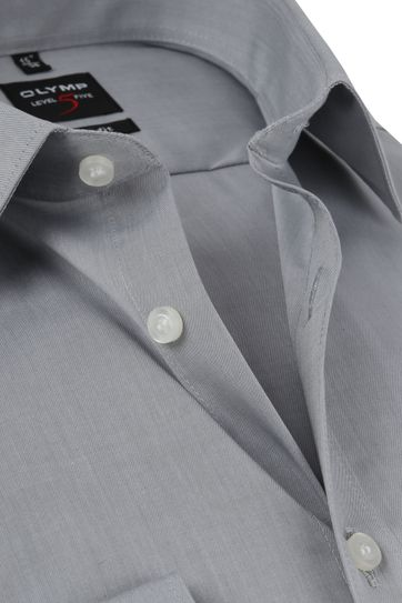 OLYMP Overhemd Level 5 BF Grijs