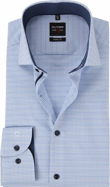 OLYMP Overhemd Level 5 Blauw