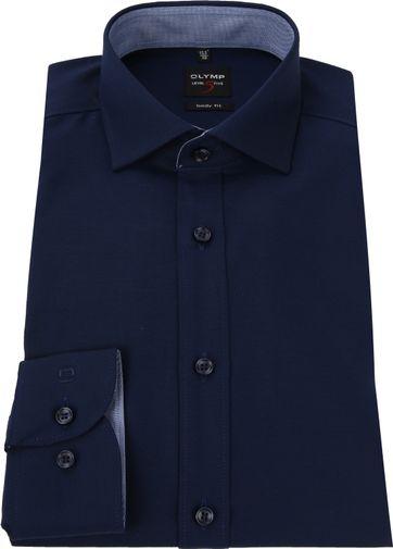 OLYMP Overhemd Level 5 Blauw Ruit