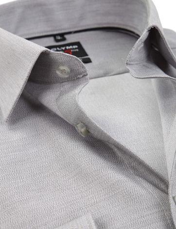 OLYMP Overhemd Level 5 Body-Fit Grijs