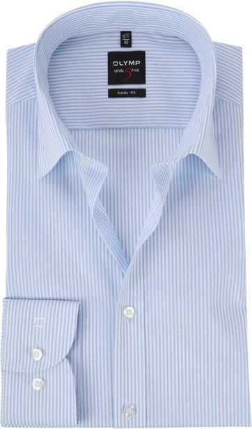 OLYMP Overhemd Level 5 Streep Blauw