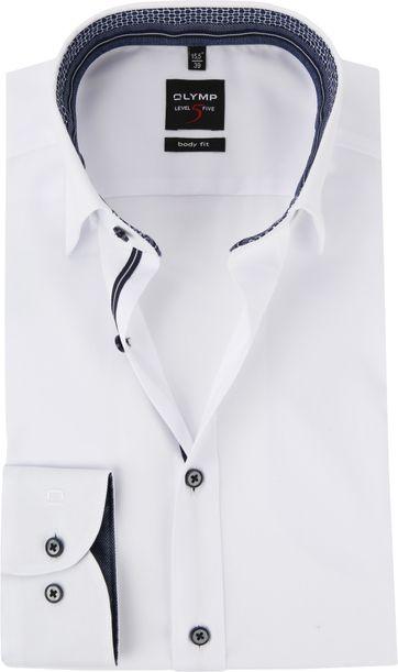 OLYMP Overhemd Level 5 Wit Blauw