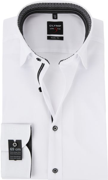 OLYMP Overhemd Level 5 Wit SL7