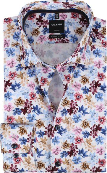 OLYMP Overhemd Luxor MF Bloemen Roze